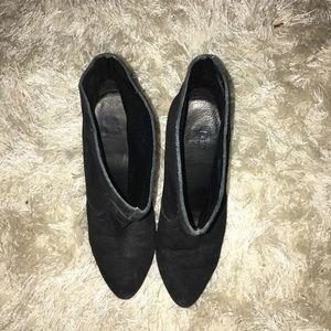 Joe fresh booties in black suede